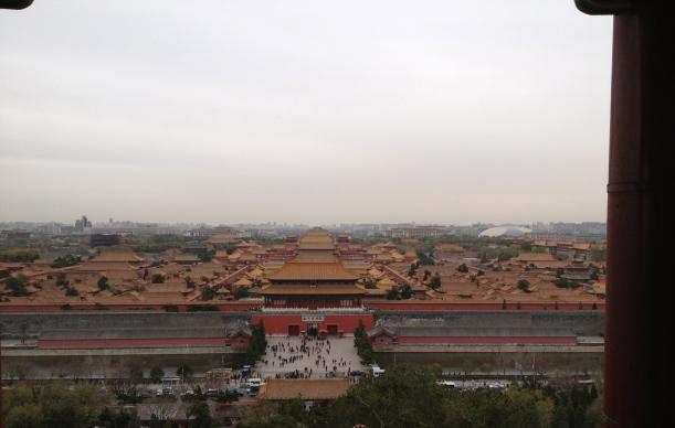 Cité Interdite vue de la Pagode du parc Jingshan