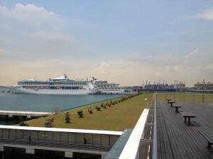 Vue depuis South Pier Terminal