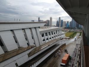 Depuis notre cabine à quai à Singapour