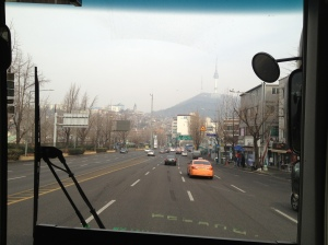 Seoul Tower toujours visible