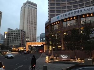 Arrivée au Westin Chosun