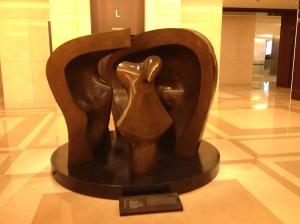 Sculpture dans le Lobby