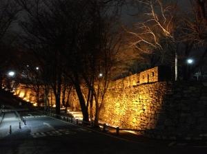 Rempart au sommet de Namsan Park