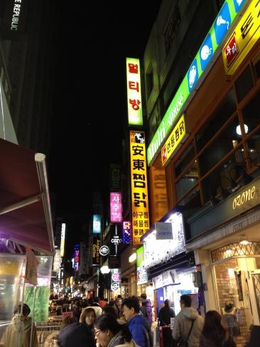 Quartier commerçant près de l'hôtel