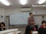 Shin présente le projet en japonais